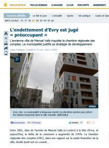 Image article parisien dette evry