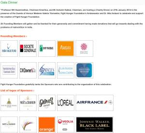 Liste sponsors gala ACF