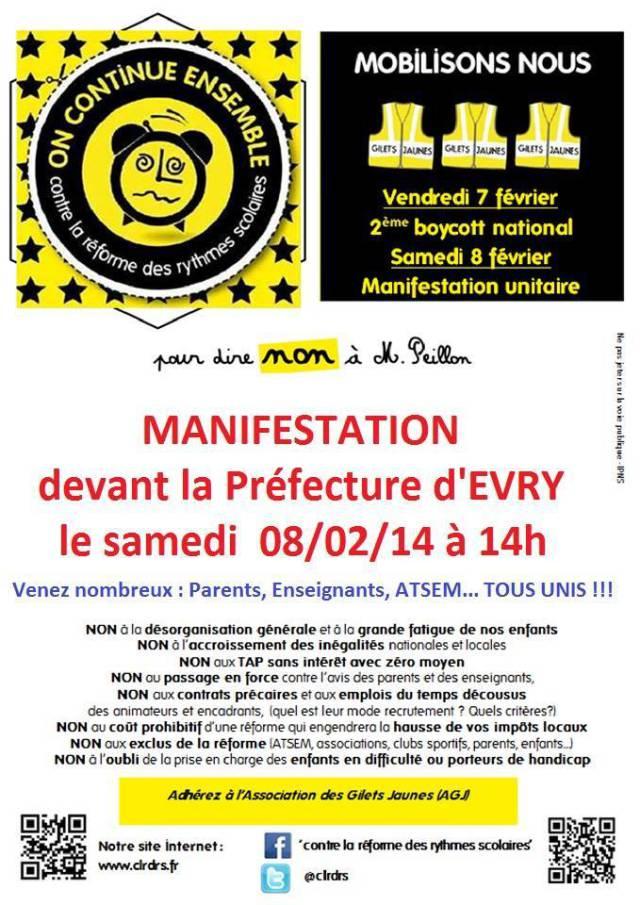 Affiche manifestation 8 fevrier 2014