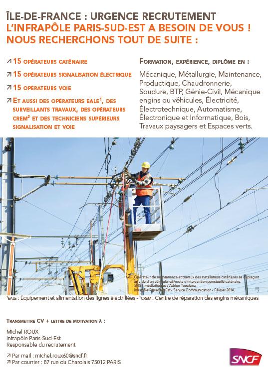 Image affiche SNCF embauche