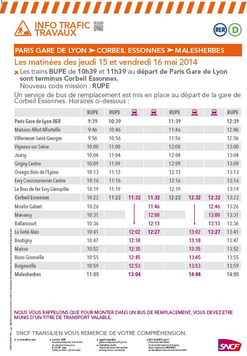 Affiche travaux SNCF mai 2014