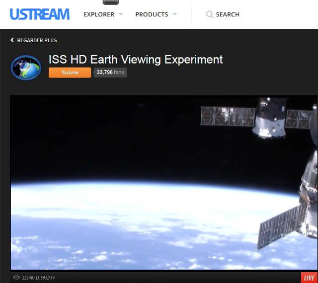 Image vue terre depuis ISS