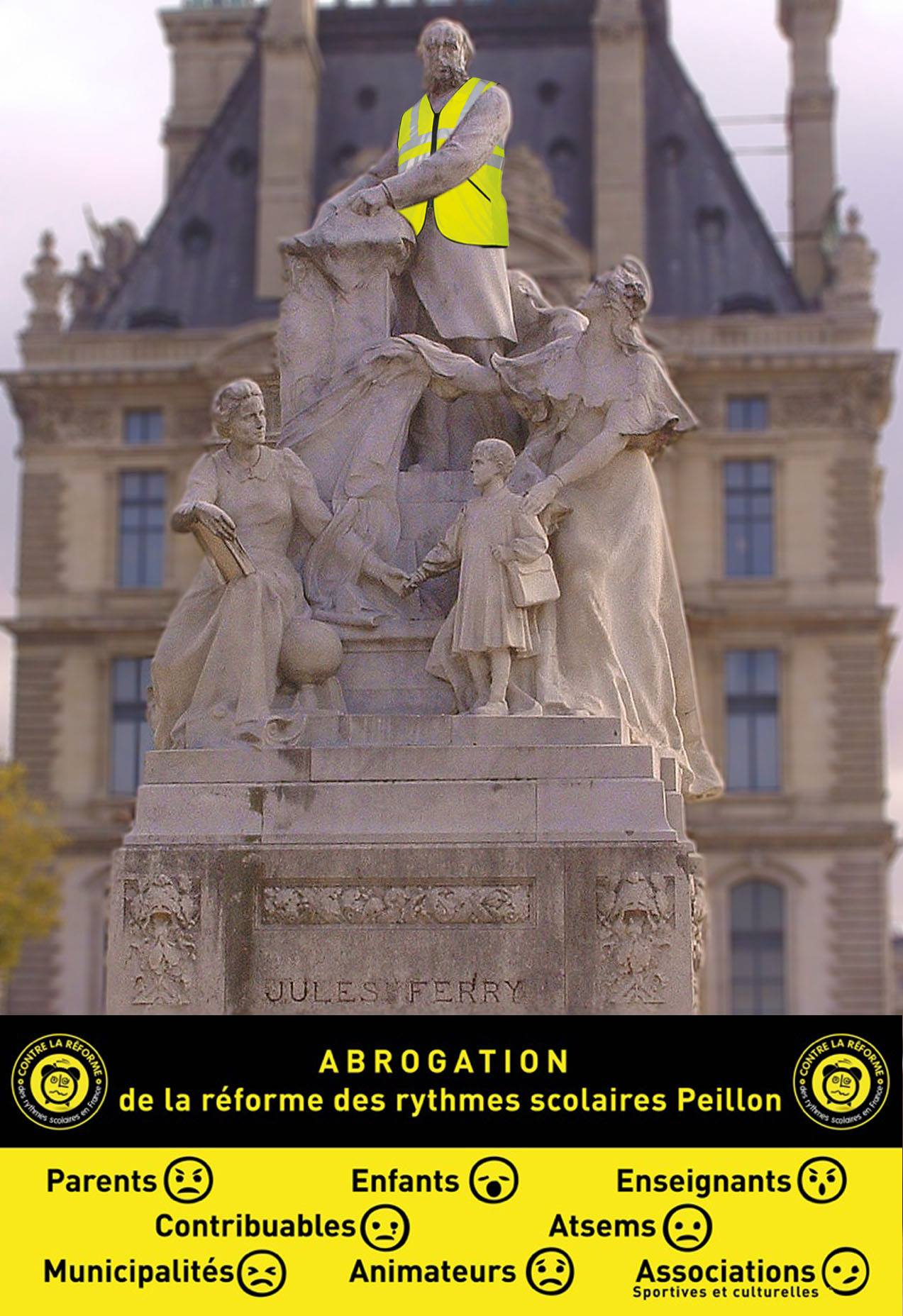 Jules Ferry endose le gilet jaune