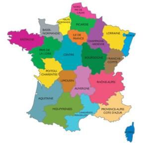Image carte des regions