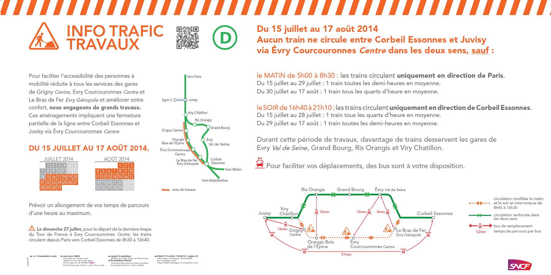 Image flyer travaux RER D ete 2014