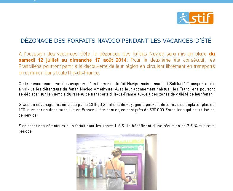 CP STIF 10 juillet 2014