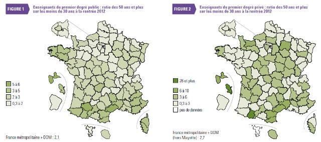 Image carte ratio ages enseignants