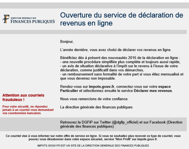 image courrier finances IR