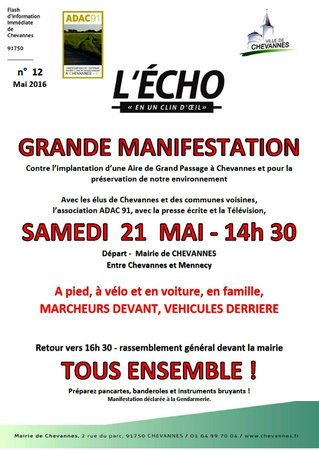 Affiche manif Chevannes 21052016