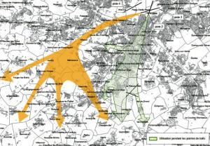 Images trajectoires decollages vent ouest