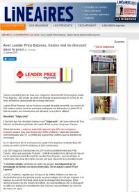 Leneaire leader price