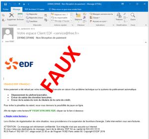 Faux message EDF