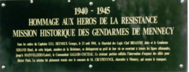 plaque gendarmerie Mennecy