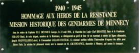 plaque gendarmerie Mennecy